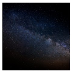 Cosmos Dark Hd Wallpaper Milky Way Large Satin Scarf (square) by BangZart