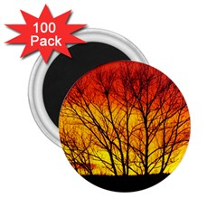 Sunset Abendstimmung 2 25  Magnets (100 Pack)  by BangZart