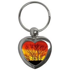 Sunset Abendstimmung Key Chains (heart)  by BangZart