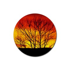Sunset Abendstimmung Rubber Coaster (round)  by BangZart