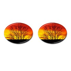 Sunset Abendstimmung Cufflinks (oval) by BangZart