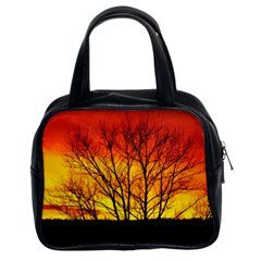 Sunset Abendstimmung Classic Handbags (2 Sides) by BangZart