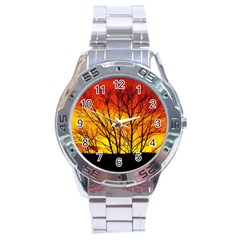 Sunset Abendstimmung Stainless Steel Analogue Watch by BangZart