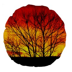 Sunset Abendstimmung Large 18  Premium Round Cushions by BangZart