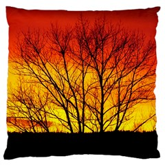 Sunset Abendstimmung Large Flano Cushion Case (two Sides) by BangZart