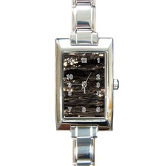 Lake Water Wave Mirroring Texture Rectangle Italian Charm Watch