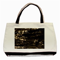 Lake Water Wave Mirroring Texture Basic Tote Bag by BangZart