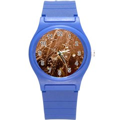 Ice Iced Structure Frozen Frost Round Plastic Sport Watch (s) by BangZart