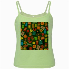 Presents Gifts Background Colorful Green Spaghetti Tank by BangZart