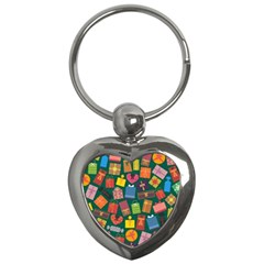 Presents Gifts Background Colorful Key Chains (heart)  by BangZart