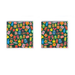 Presents Gifts Background Colorful Cufflinks (square) by BangZart