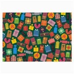 Presents Gifts Background Colorful Large Glasses Cloth Front