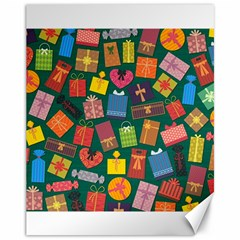 Presents Gifts Background Colorful Canvas 11  X 14   by BangZart