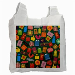 Presents Gifts Background Colorful Recycle Bag (one Side) by BangZart