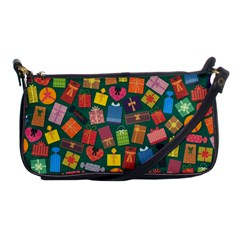 Presents Gifts Background Colorful Shoulder Clutch Bags by BangZart