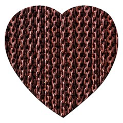 Chain Rusty Links Iron Metal Rust Jigsaw Puzzle (heart) by BangZart