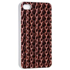 Chain Rusty Links Iron Metal Rust Apple Iphone 4/4s Seamless Case (white) by BangZart