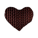 Chain Rusty Links Iron Metal Rust Standard 16  Premium Heart Shape Cushions Front