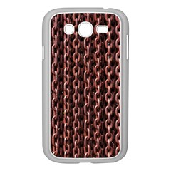 Chain Rusty Links Iron Metal Rust Samsung Galaxy Grand Duos I9082 Case (white) by BangZart