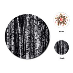 Birch Forest Trees Wood Natural Playing Cards (round)  by BangZart