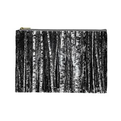 Birch Forest Trees Wood Natural Cosmetic Bag (large)  by BangZart