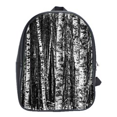 Birch Forest Trees Wood Natural School Bags(large)  by BangZart