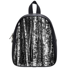 Birch Forest Trees Wood Natural School Bags (small)  by BangZart