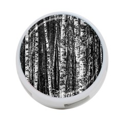 Birch Forest Trees Wood Natural 4 Port Usb Hub (two Sides)  by BangZart