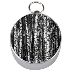 Birch Forest Trees Wood Natural Silver Compasses by BangZart