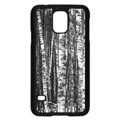 Birch Forest Trees Wood Natural Samsung Galaxy S5 Case (black) by BangZart