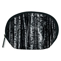 Birch Forest Trees Wood Natural Accessory Pouches (medium)  by BangZart