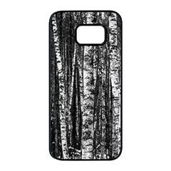 Birch Forest Trees Wood Natural Samsung Galaxy S7 Edge Black Seamless Case