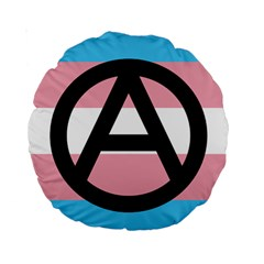 Anarchist Pride Standard 15  Premium Round Cushions by TransPrints