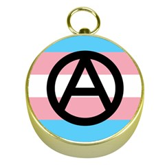 Anarchist Pride Gold Compasses by TransPrints