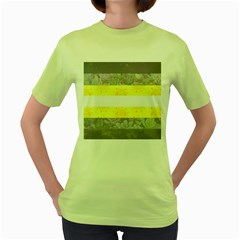 Nonbinary Flag Women s Green T Shirt by AnarchistTransPride
