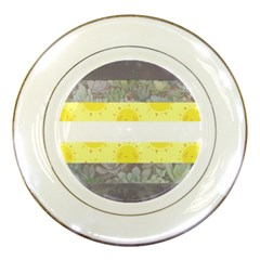 Nonbinary Flag Porcelain Plates by AnarchistTransPride