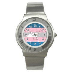 Pride Flag Stainless Steel Watch by TransPrints