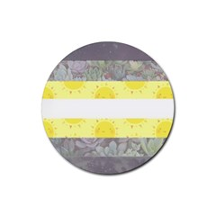 Cute Flag Rubber Round Coaster (4 Pack)  by TransPrints