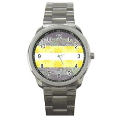Cute Flag Sport Metal Watch by TransPrints