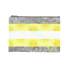 Cute Flag Cosmetic Bag (large)  by TransPrints