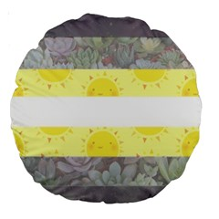 Cute Flag Large 18  Premium Round Cushions by TransPrints