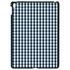 Silent Night Blue Large Gingham Check Apple Ipad Pro 9 7   Black Seamless Case