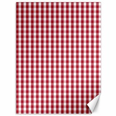 Usa Flag Red Blood Large Gingham Check Canvas 36  X 48   by PodArtist