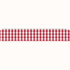 Usa Flag Red Blood Large Gingham Check Small Bar Mats by PodArtist