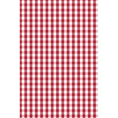 Usa Flag Red Blood Large Gingham Check 5 5  X 8 5  Notebooks by PodArtist