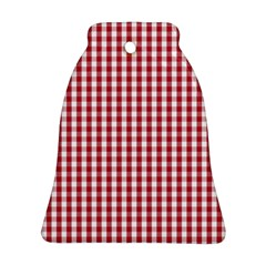 Usa Flag Red Blood Large Gingham Check Ornament (bell) by PodArtist