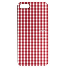 Usa Flag Red Blood Large Gingham Check Apple Iphone 5 Hardshell Case With Stand by PodArtist
