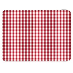 Usa Flag Red Blood Large Gingham Check Samsung Galaxy Tab 7  P1000 Flip Case by PodArtist