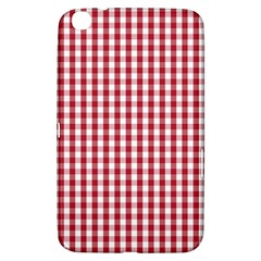 Usa Flag Red Blood Large Gingham Check Samsung Galaxy Tab 3 (8 ) T3100 Hardshell Case  by PodArtist