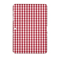 Usa Flag Red Blood Large Gingham Check Samsung Galaxy Tab 2 (10 1 ) P5100 Hardshell Case  by PodArtist